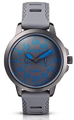Chotovelli-Aviator-Mens-Watch-Multifunction-Analogue-display-Army-Silicone-Strap-3316