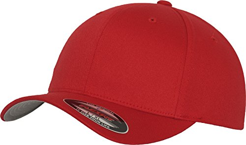 Flexfit 6277 Wooly Unisex Combed Cap, red, L/XL