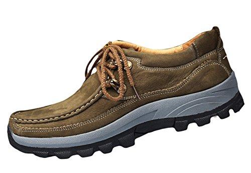 EOZY Chaussures De Randonnée Basses Femme Cuir Antidérapant Chaussure De Sport Alpinisme Hiking Kaki