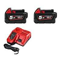 Milwaukee M18 B5 2 x 18 V/5,0 Ah Battery and Charging 12 18 FC (M18NRG 502)