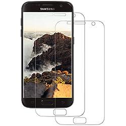FayTun [Lot de 2] Protection Écran pour Samsung Galaxy S7, Transparente Ultra Claire, Anti-Rayures, Anti-Fingerprint, Compatible 3D Touch Protege Film pour Samsung S7