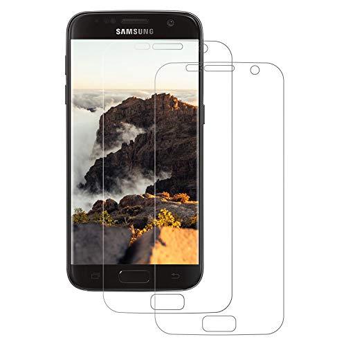 FayTun 3D Schutzfolie kompatibel mit Samsung Galaxy S7, [2 Stück] Displayschutz Foile, [Full Cover],[blasenfrei],[Anti-Kratzer],[HD Ultra-Klar] kein Glas sondern Galaxy S7 Displayschutzfolie TPU