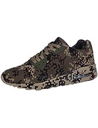 569d7882a Zapatillas de Casa para Hombre      Yesmile Moda Zapatos de Caminar de  Patrón de Camuflaje de Hombres Botas Pano de Deporte…