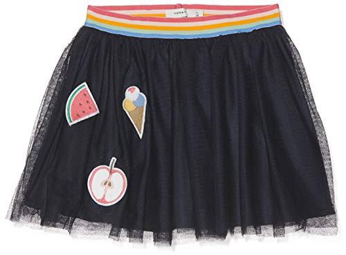 NAME IT Mädchen Rock NMFDUDDI Tulle Skirt, Blau (Dark Sapphire), (Herstellergröße: 98)