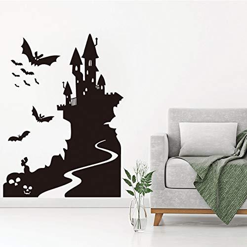 Fledermaus und Schloss Art Design Dekoration Vinyl Wall Sticker entfernbare Haus Dekor ()