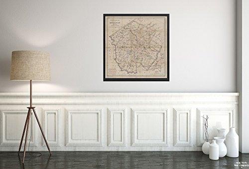 1891Karte von 312Broadway, New York Colton 's Road Map of Sullivan County (, State of New York bruttogewicht & C.B. Colton & Co. |Historic Antik Vintage Reprint|Ready Zum Rahmen
