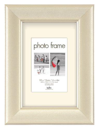 SET 12 Stk Innova Fotorahmen DONEGAL (3807-2)-13x18 cm Perl Weiß-Größe 9x13cm -Gesamtgröße 19x24x1,3 cm-Stilrahmen Portraitrahmen Bilder-Rahmen