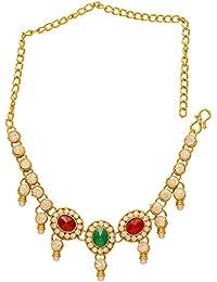 DzineTrendz Gold plated CZ Colourful Ethnic Traditional Bajubandh Armlet jewellery Women
