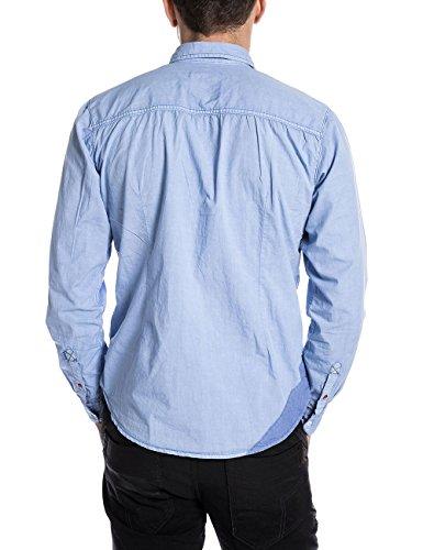 Timezone Herren Freizeithemd Commonkenttz Blau (blue fog 3951)
