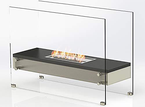 RS Trade Kos Bio-Ethanol Wand-Kamin Tisch-Kamin Stand-Kamin Ofen Edelstahl Deko Feuerstelle Feuersäule Feuerkorb