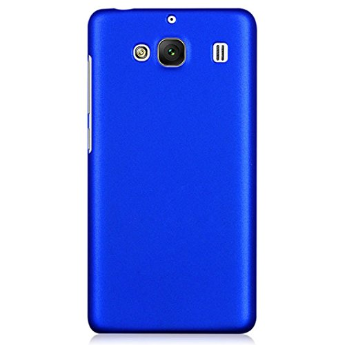 WOW Imagine(TM) Rubberised Matte Hard Case Back Cover For XIAOMI MI REDMI 2 / REDMI 2 PRIME (Blue)