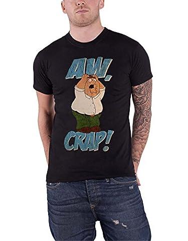 Family Guy T Shirt Peter Griffin Aww Crap Distressed nouveau officiel Homme