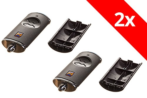 2 Stück Hörmann Handsender Cover HSE2BS Leer Gehäuse ohne Batterie ohne Platine Ersatzteil Ober- und Unterschale - Leer Gehäuse