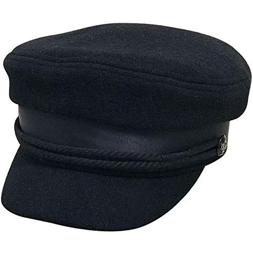 JKFJY FOLD Boina Azul Marino Sombrero Plano Retro