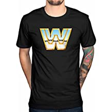 Official WWE Classic Logo-Camiseta para hombre, diseño de Hulk Hogan Wrestling WWF