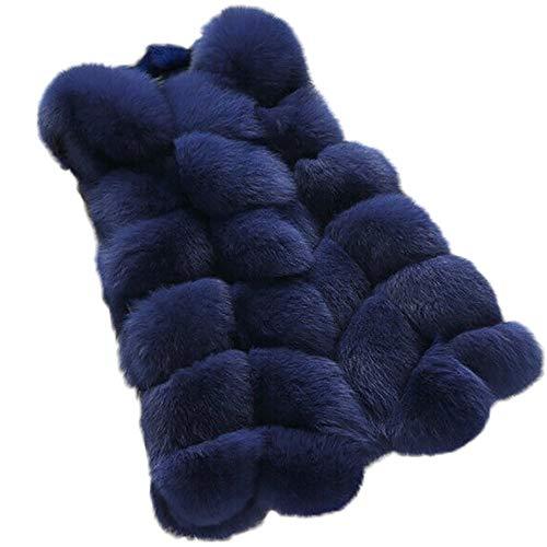 Somesun moda donne caldo panciotto veste cappotto gilet giacca pelliccia ecologica cardigan outwear,più velluto addensare senza maniche tinta unita cappottino invernali eleganti belli