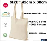10 x Natural 5oz Cotton Shopping Tote Bags - Shoppers - ideal for Printing or Fabric Painting