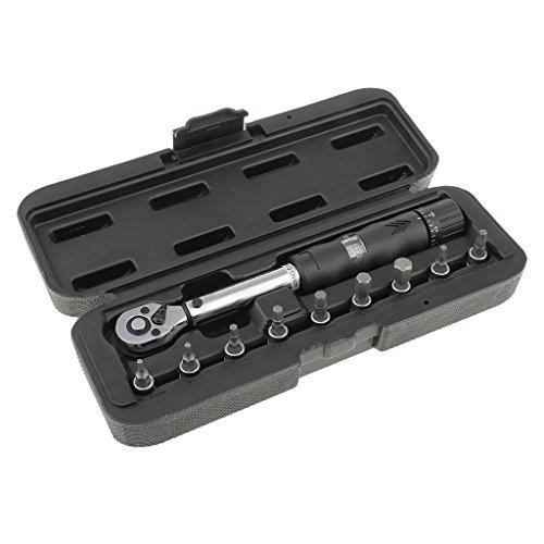 1/4 ''Drive Hex Socket Bit Set Llave De Torque Reparación De Bicicleta Llave Inglesa 2-14Nm Metal Duradero