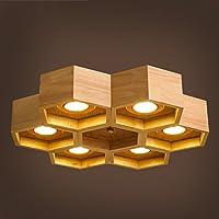 BBSLT Lampade Nordic orticaria lungo soffitto luci moderno salotto creativo camera da letto tinta legno arte illuminazione