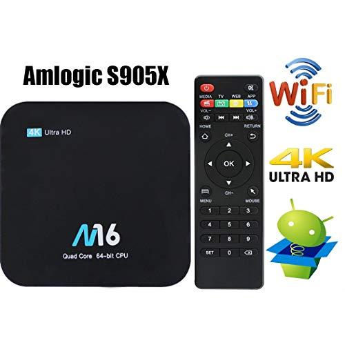Android 7.1 TV Box - VIDEN Smart TV Box Amlogic S905X Quad Core, 1GB RAM & 8GB ROM, 4K*2K UHD H.265, HDMI, USB*2, 2.4GHz WiFi, Web TV Box, Android Set-Top Box + Fernbedienung
