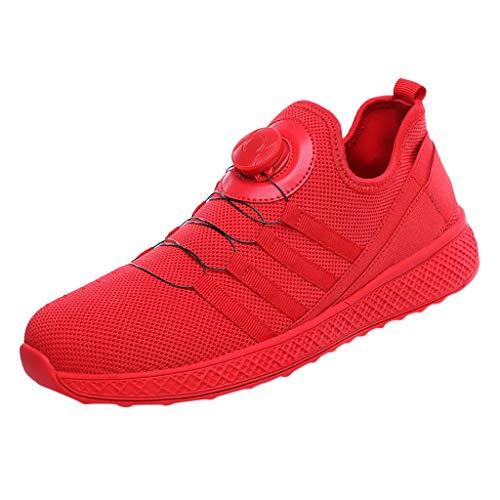 CUTUDE Herren Sneakers Mesh Sportschuhe Leichte Atmungsaktive Sportliche Laufschuhe Running Fitness Outdoors Athletisch - Schwarz Rot 39-44 (Rot, 42 EU)