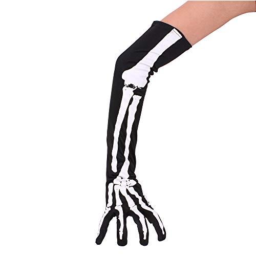 Wuchance Lange Hand Ärmel Knochen Handschuhe Halloween Cosplay Requisiten Zubehör