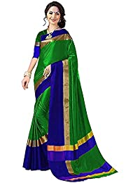 Amiga Woman's Silk Party Wear Saree With Blouse (Free Size_More 8 Colored)