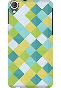 AMEZ designer printed 3d premium high quality back case cover for HTC Desire 820 (Simple plaid)