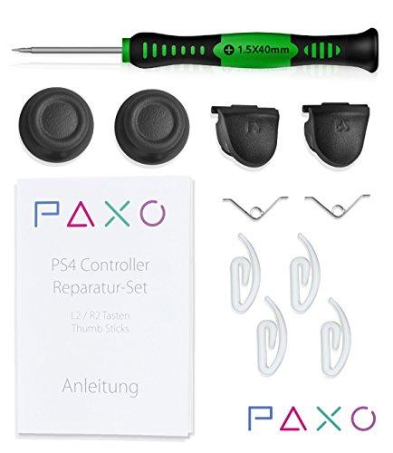 PS4 Controller Reparatur Set / Kit für L2 & R2 Tasten und Thumb Sticks, incl. ausführlicher Anleitung