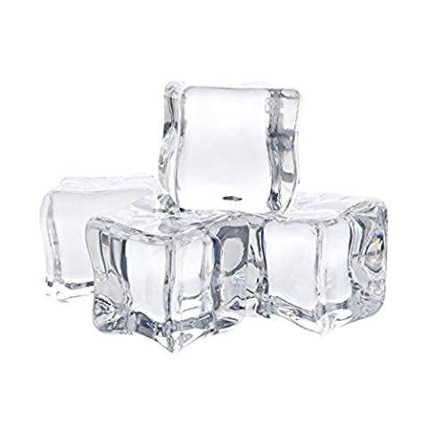 Cube Transparent - 12/2 cm en acrylique transparent glace Rock Cubes