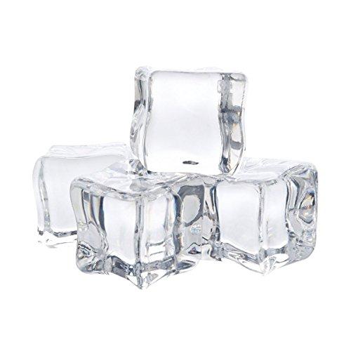 (12Pcs Acryl löschen Eis Felsen Würfel für Vase Füller und Tabellen Verzieren (3CM))