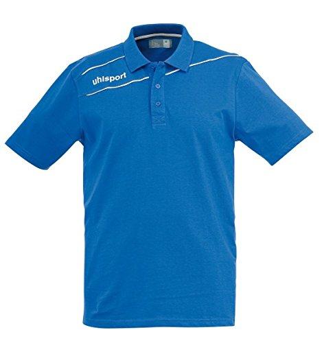 Uhlsport Polo Shirt STREAM 3.0 azurblau/weiß