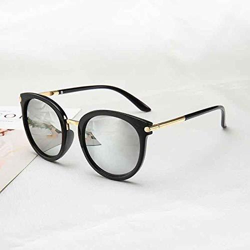 xrglz Sonnenbrille für Herren und Damen, 100% UV-Schutz, hellschwarz