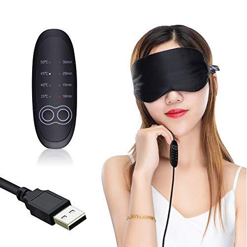 USB Steam Eye Mask zur Linderung von Augenstress, warme therapeutische Behandlung für trockenes Auge, Blepharitis, Styen