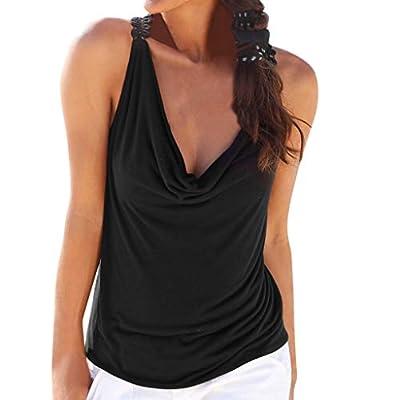 Yvelands Damen Weste Tank top beiläufige Feste Weste ärmelloses Spitze Trägershirt Blusen T-Shirt