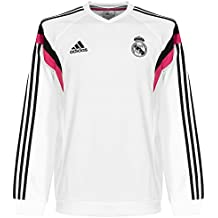 2014-15 Real Madrid Adidas Sweat Top (White) b8016534244d5