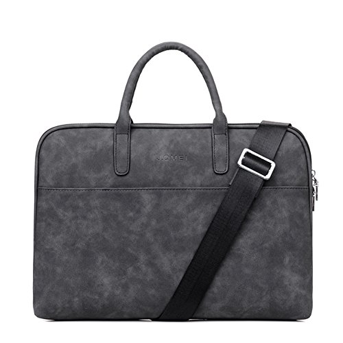 15 Pouces Sac à main homme Porte-documents Oxford Sacoche Business Homme d'Ordinateur Sac Bandoulière Gris