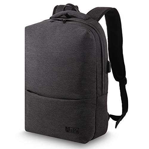 Laptop Backpack - Waterproof Backpack - Rucksack for Mens Women - Anti-Theft Backpack Pockets - USB Charging Port - Fits Laptop up to 15.6 inch - Recommended for College, University, or Work
