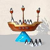 fghdf Kreative Pinguin Piratenboot Schiff Balance Brettspiel Balance Interaktives Tischspiel Lernen Lernspielzeug Kinder Schreibtisch Spielzeug