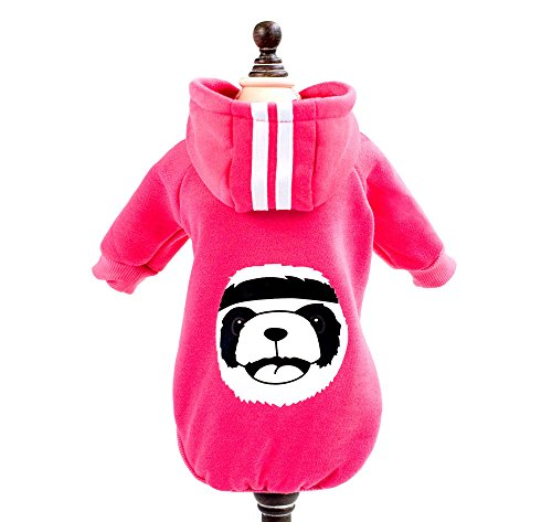 zunea Panda Warm Dick Hoodie Kleiner Hund Katze Jacke Fleece Sweatshirt Winter Pet Sweater Puppy T-Shirt Mantel Kleidung - Halloween-kostüme Läuft Cool