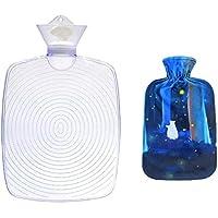 1800ML Klassisch PVC Kalt oder Heiße Wasserflasche mit weichem Plüschbezug, 12 preisvergleich bei billige-tabletten.eu