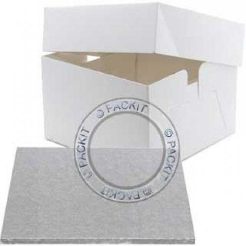 PackitUK Kuchenkarton mit Kuchenplatte, Quadratisch, 30,5cm