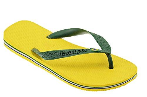 Havaianas Unisex-Erwachsene Brasil Logo Zehentrenner Gelb
