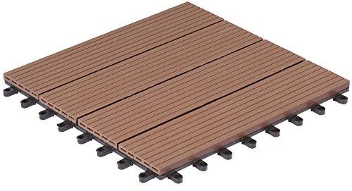 Gartenfreude 4600-1005-003 - Nunca terrazas del Piso de wpc Suelo de baldosas...