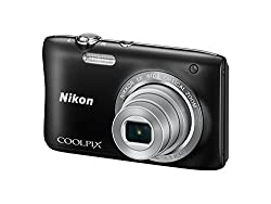 Nikon Coolpix S2900 20.1MP Point And Shoot Digital Camera (Black) with 5x Optical Zoom