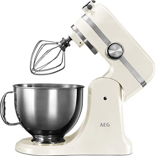 AEG KM4100 Robot de Cocina con Bol Batidora, Amasadora, Apta para Lavavajillas, Dos Boles ,10 Velocidades...