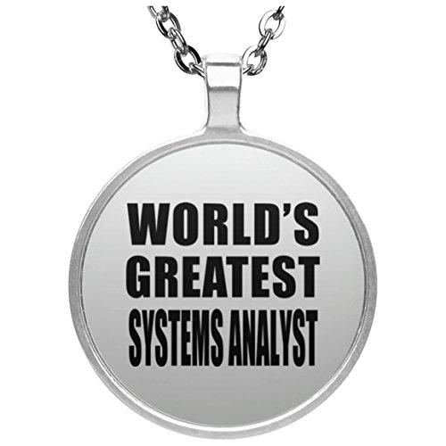 Zwei-kreis-system (Worlds Greatest Systems Analyst - Round Necklace Halskette Kreis Versilberter Anhänger - Geschenk zum Geburtstag Jahrestag Muttertag Vatertag Ostern)