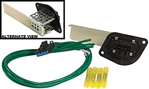 APDTY 084527 Blower Motor Resistor Kit With Wiring Harness Pigtail Fits 1997-1998 Dodge Van B1500 B2500 B3500 / 1999-2003 Dodge Ram Van 1500 2500 3500 / 1997-2001 Jeep Cherokee / 1997-2006 Jeep Wrangler (Replaces Mopar 4885456AB) by APDTY