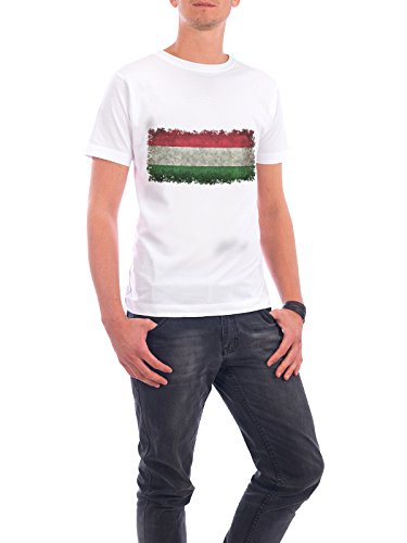"Design T-Shirt Männer Continental Cotton ""Flag of Hungary"" - stylisches Shirt Reise von Bruce Stanfield Weiß"