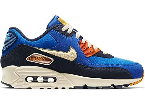 promo code 7c703 58235 Nike Air MAX 90 Premium Se, Zapatillas de Gimnasia para Hombre, Azul (Game